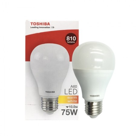 หลอดไฟ LED A60 10W WW E27(G4) TOSHIBA