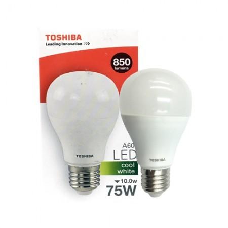 หลอดไฟ LED A60 10W CW E27(G4) TOSHIBA