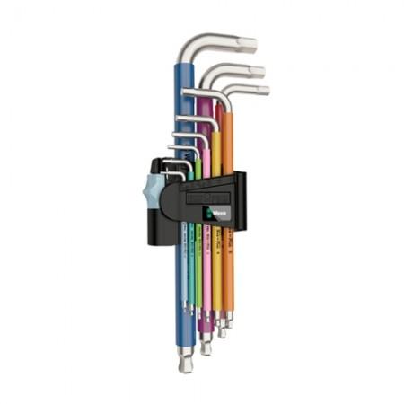 ประแจ สตล05022669001 หุ้มสี9ตัวชุด WERA