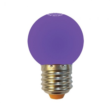 หลอด LED ปิงปอง 1W ม่วง MELLOW