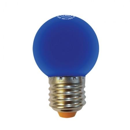 หลอด LED ปิงปอง 1W น้ำเงิน  MELLOW