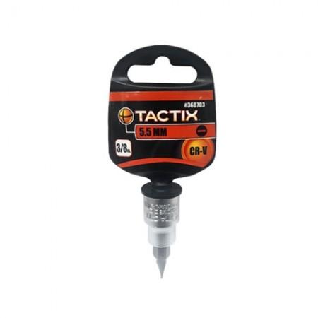 """ลูกบล็อกหัวแบน 3/8"""" 5.5mm 360703 TACTIX"""