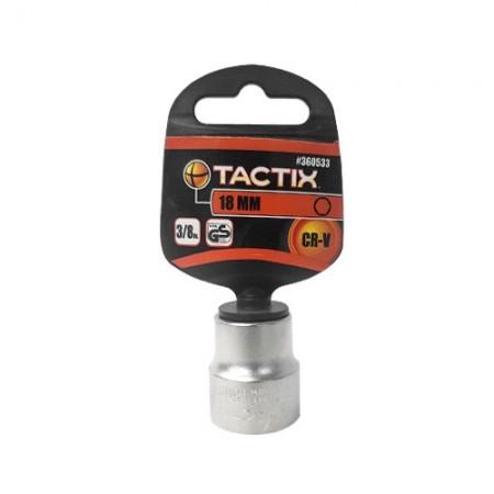 """ลูกบล็อก 3/8"""" 6PT 18mm 360533 TACTIX"""