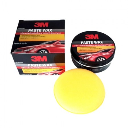 น้ำยาเคลือบเงารถ สูตรคานูบา Paste Wax 3M