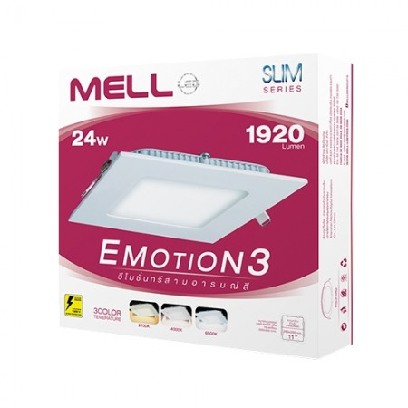 หลอดLED SLIM EMOTION 3 SQUARE 24W MELLOW