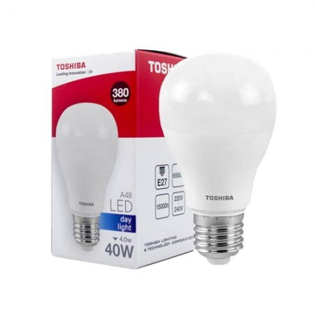 หลอดไฟ LED GEN5 A48 4W DAY LIGHT E27 TOSHIBA LT