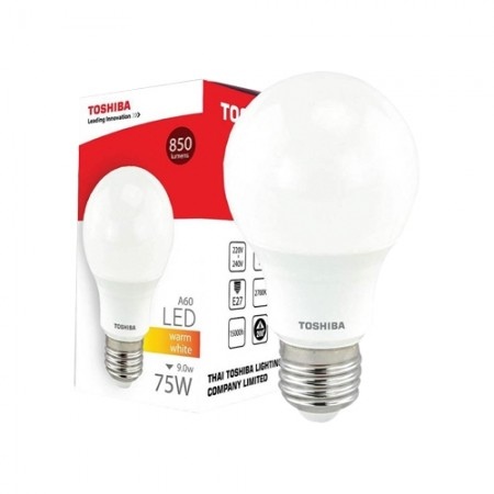 หลอดไฟ GEN5 LED A60 9W WARM WHITE E27 TOSHIBA LT
