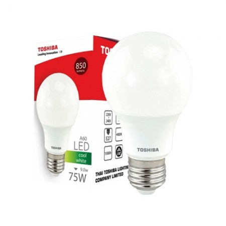 หลอดไฟ GEN5 LED A60 9W COOL WHITE E27 TOSHIBA LT