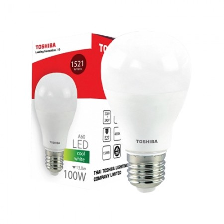 หลอดไฟ LED GEN5 A60 13W COOL WHITE E27 TOSHIBA LT