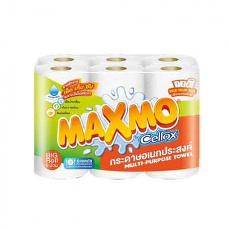 กระดาษชำระ MAXMO พิคยัวร์ไซค์ 6ม้วน