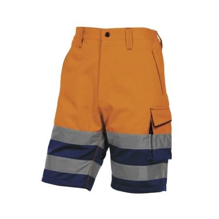 กางเกงทำงานขาสั้น PHBE2 DELTA ส้มนีออนXL DELTAPLUS