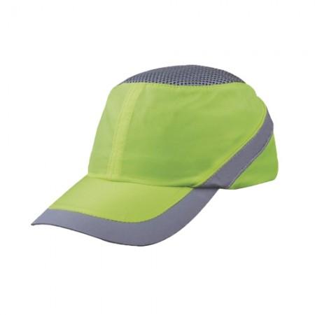 หมวกแก๊ปนิรภัย AIR COLTAN DELTA เขียวสะท้อน DELTAPLUS