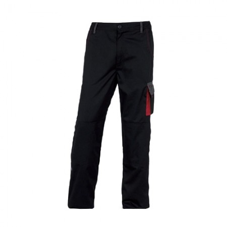 กางเกงทำงาน DMACHPAN DELTA สีดำ-แดง L DELTAPLUS