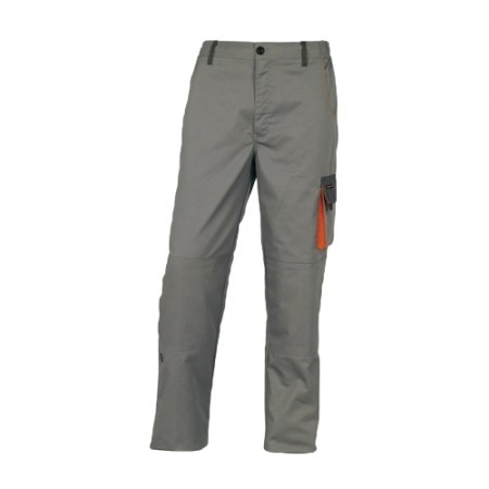 กางเกงทำงาน DMACHPAN DELTA สีเทา-ส้ม L DELTAPLUS