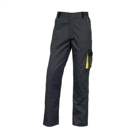 กางเกงทำงาน DMACHPAN DELTA เทา-เหลือง L DELTAPLUS