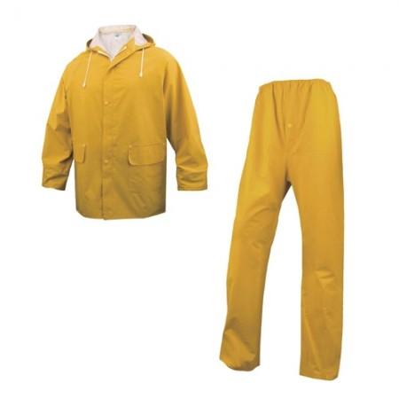 ชุดกันฝนเสื้อกางเกง304 DELTA สีเหลืองXL
