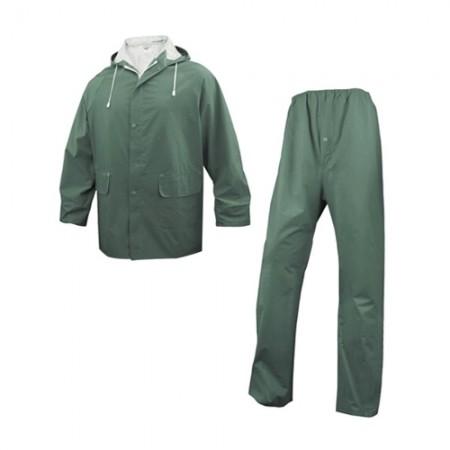 ชุดกันฝนเสื้อกางเกง 304 DELTA สีเขียว L DELTAPLUS