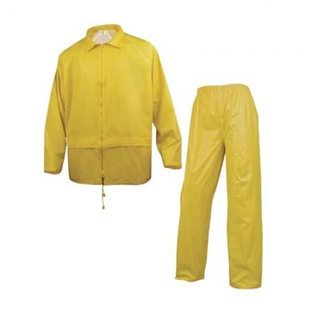 ชุดกันฝนเสื้อกางเกง 400 DELTA เหลือง L