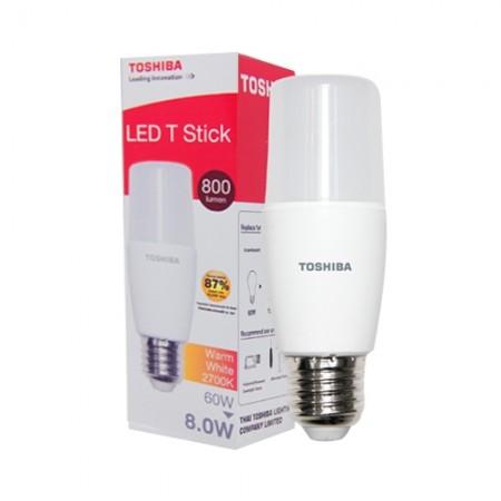 หลอด LED Stick T7 8W WARM WHITE TOSHIBA