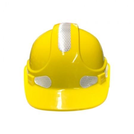 หมวกเซฟตี้+แถบสะท้อนแสง W-018 เหลือง  SAFETY FIRST