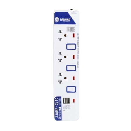 ปลั๊กคอม 3ที่+USB ET-913+USB 3ม. TOSHINO