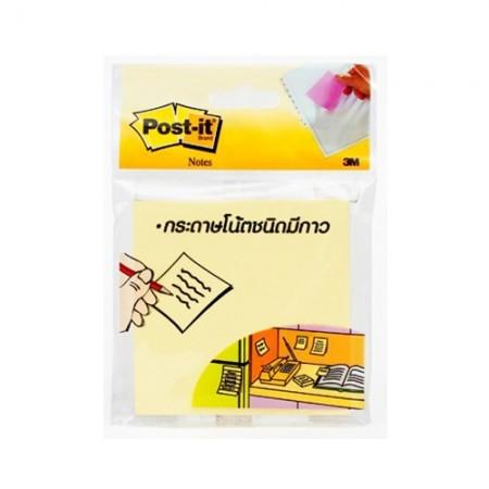 กระดาษโน๊ตPOST IT 3*3 654-HB 3M เหลือง