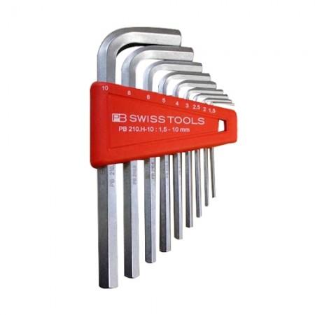 ชุดประแจ6 เหลี่ยมหัวตัดสั้น 210H10 1.5-10mm PB