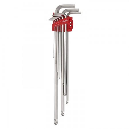 ประแจหกเหลี่ยมยาวพิเศษ 9ชิ้น 143960 VESSEL