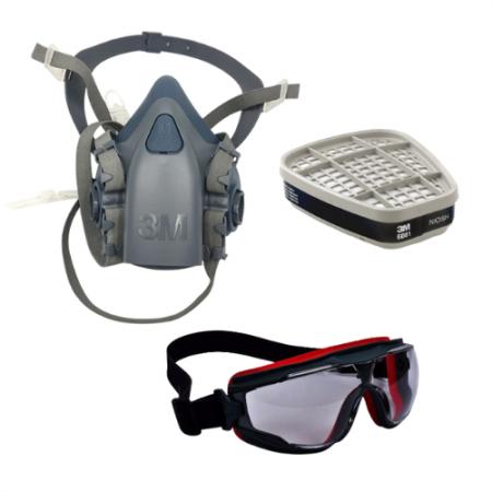 Set A : 3M อุปกรณ์ป้องกันระบบหายใจจากสารเคมีและแก๊ส