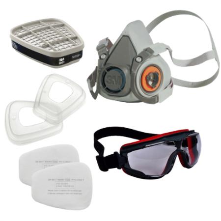 Set D : 3M อุปกรณ์ป้องกันระบบหายใจจากสารเคมีและแก๊ส