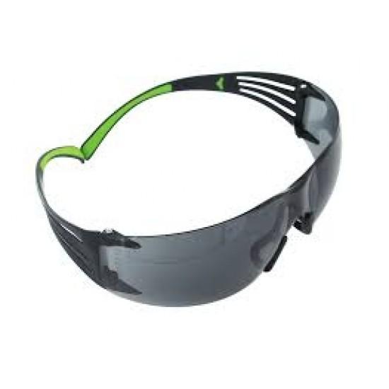 แว่นตานิรภัย สีชา ปรับได้ SF410AF 3M (NEW)