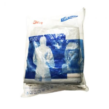 ชุดป้องกันฝุ่นละอองสารเคมีTYPE4564570, L