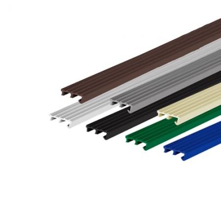 จมูกบันได ใหญ่ PVC N-17 APACE สีดำ