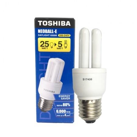 หลอดประหยัดไฟ E(2U) 5W DL TOSHIBA