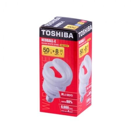 หลอดประหยัดไฟE14 8W WW  LT TOSHIBA