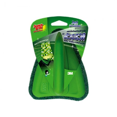 สก็อตไบรท์หัวจรวด สีเขียว JET GREEN 3M