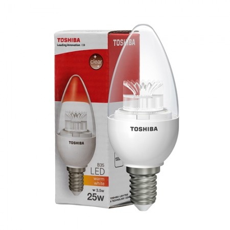 หลอดไฟ LED Candle 3.5W E14 WW TOSHIBA