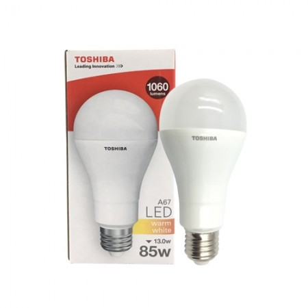 หลอดไฟ LED A67 13W WW E27 TOSHIBA
