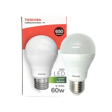 หลอดไฟ LED A60 8W CW E27 (G3) TOSHIBA