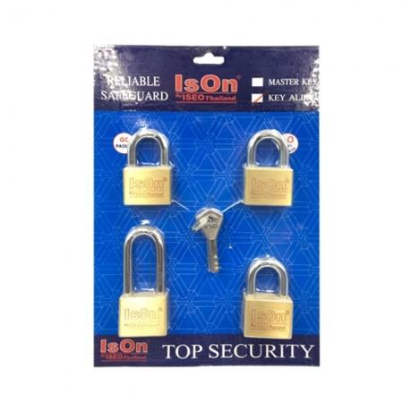กุญแจชุด Key Alike 40มม. ISEO 4 ตัวชุด
