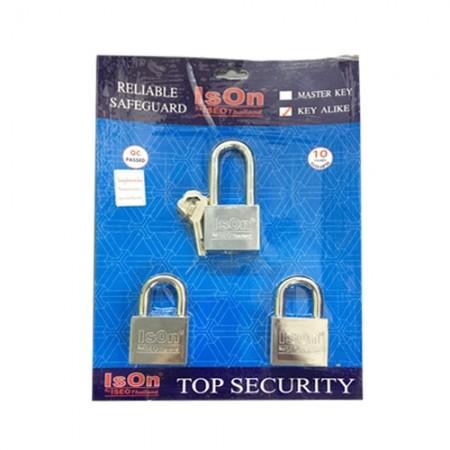 กุญแจชุด  877 40มม. ISEO 3ตัวชุด