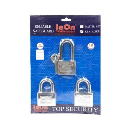 กุญแจชุดKey Alike 877 50มม. ISEO 3ตัวชุด