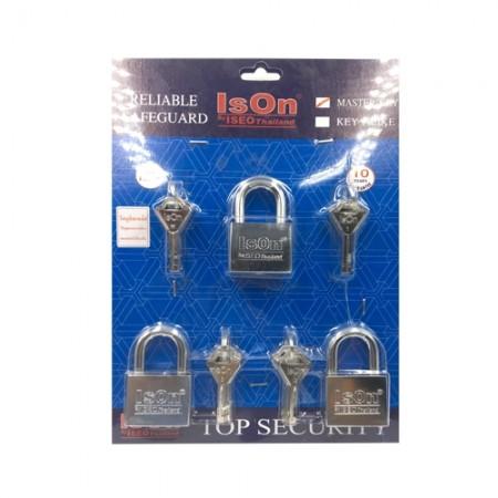กุญแจชุดMaster Key877 50มม. ISEO 3ตัวชุด