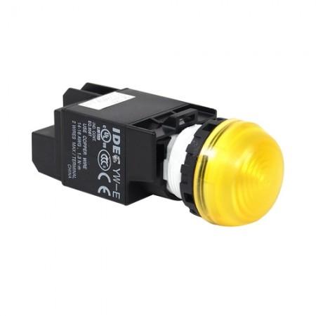 ไพล็อตแลม22มมLEDYW1P-2EQ4/24V สีเหลือง IDEC