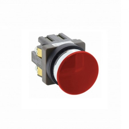 สวิทซ์หัวเห็ด 30มม กดเด้ง ABN310 สีแดง IDEC