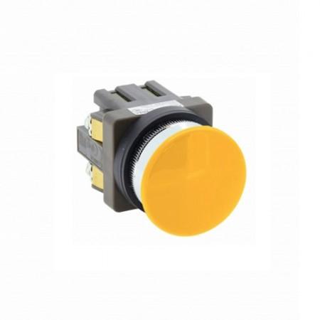 สวิทซ์หัวเห็ด30 มม. กดเด้ง ABN310  สีเหลือง  IDEC