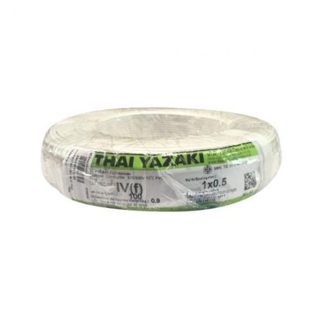สายคอนโทรล IEC 06 IV 1*0.5 YAZAKI ขาว