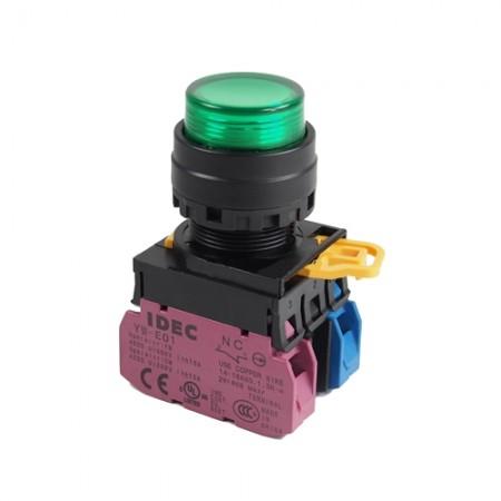 สวิทกดจมมีไฟ22มมYW1L-M2E11QM3220V สีเขียว IDEC