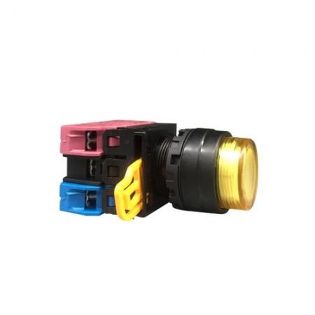 สวิทกดจมมีไฟ22มมYW1L-M2E11QM3220V IDEC สีเหลือง