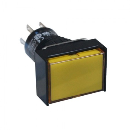สวิทกดเด้งมีไฟ16มมAL6H-M14Y(1NO+1NC)IDEC